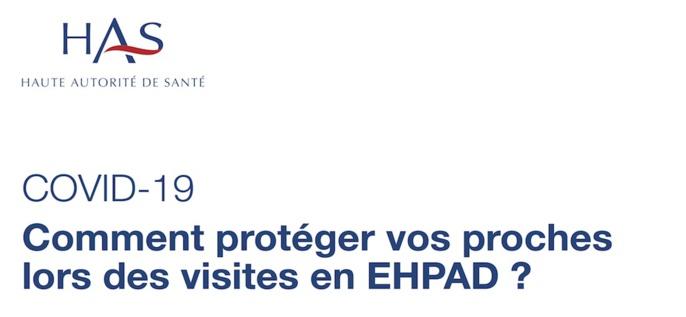 Visites en EHPAD: la Haute Autorité de Santé publie un document à l'attention des familles
