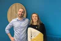 Jean-Christophe Froment  et Julie Ernecq (psychomotricienne en gériatrie), co-concepteurs  du dispositif Grand-Via. ©DR