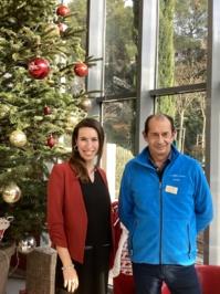 Christophe Perraud, le directeur de l'EHPAD, et Maïssane Bakri, son adjointe. ©DR