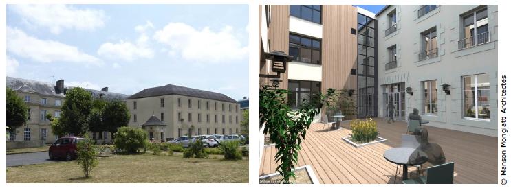 Pose de première pierre des travaux d'agrandissement et de restructuration de La Grand'Maison des Sacrés-Coeurs