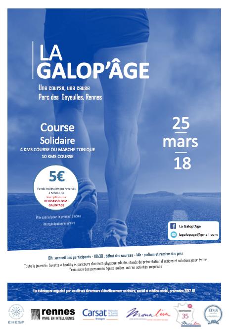 Rendez-vous à Rennes le 25 mars pour la Galop'Âge !