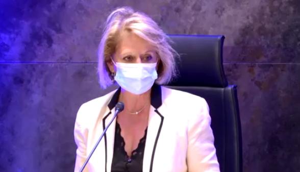Brigitte Bouguignon lors de son intervention le lundi 28 septembre à l'occasion du Congrès national des âges et du vieillissement. © Capture d'écran