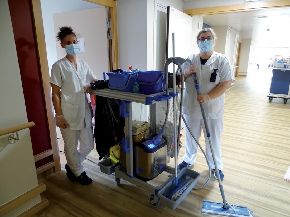 Le nettoyant vapeur Sanivap produit de la vapeur d'eau à très haute température, pour un bio-nettoyage sans produits chimiques. ©DR